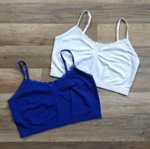 Forever 21 Blue White Medium Large Lace Bra M L